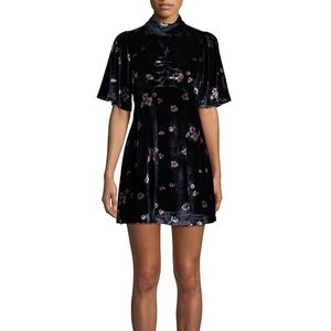 NWT FREE PEOPLE BE MY BABY VELVET FLORAL MINI